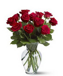 İstanbul uluslararası çiçek gönderme  cam yada mika vazoda 10 kirmizi gül