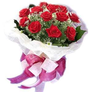 İstanbul çiçek online çiçek siparişi  11 adet kırmızı güllerden buket modeli