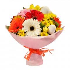 Karışık mevsim buketi Mevsimsel çiçek  İstanbul İnternetten çiçek siparişi