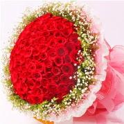101 adet kırmızı gülden buket  İstanbul çiçek gönderme