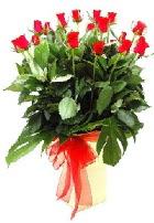 Vazoda 15 adet kırmızı gül  İstanbul çiçek yolla