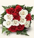İstanbul çiçek servisi , çiçekçi adresleri  10 adet kirmizi beyaz güller - anneler günü için ideal seçimdir -