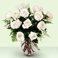 İstanbul ucuz çiçek gönder  beyaz güller cam yada mika vazo