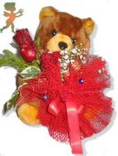 oyuncak ayi ve gül tanzim  İstanbul çiçek yolla , çiçek gönder , çiçekçi