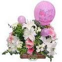 balon ve çiçeklerle tanzim  İstanbul online çiçekçi , çiçek siparişi