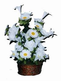 yapay karisik çiçek sepeti  İstanbul çiçek gönderme sitemiz güvenlidir