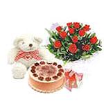 ayicik yaspasta ve gül   İstanbul uluslararası çiçek gönderme