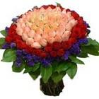 71 adet renkli gül buketi   İstanbul çiçek mağazası , çiçekçi adresleri