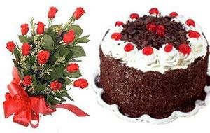 İstanbul online çiçekçi , çiçek siparişi  12 ADET KIRMIZI GÜL BUKET VE YASPASTA