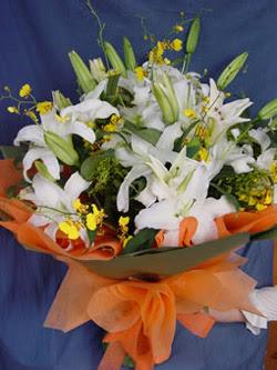 İstanbul online çiçekçi , çiçek siparişi  5 ADET KAZABLANKA BUKETI KALITEDEN SASMAYANLARA