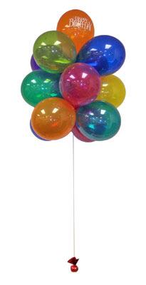 İstanbul anneler günü çiçek yolla  Sevdiklerinize 17 adet uçan balon demeti yollayin.