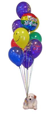 İstanbul hediye sevgilime hediye çiçek  Sevdiklerinize 17 adet uçan balon demeti yollayin.