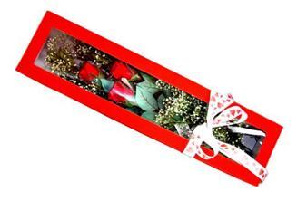 İstanbul kaliteli taze ve ucuz çiçekler  Kutuda 3 adet gül