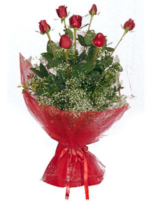 İstanbul çiçek siparişi sitesi  7 adet gülden buket görsel sik sadelik
