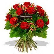 9 adet kirmizi gül ve kir çiçekleri  İstanbul online çiçekçi , çiçek siparişi