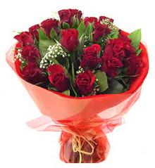 İstanbul ucuz çiçek gönder  11 adet kimizi gülün ihtisami buket modeli