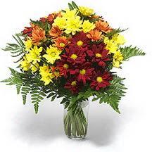 İstanbul yurtiçi ve yurtdışı çiçek siparişi  Karisik çiçeklerden mevsim vazosu