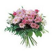 karisik kir çiçek demeti  İstanbul çiçek online çiçek siparişi