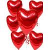 İstanbul online çiçek gönderme sipariş  17 adet FOLYO kalp görünümünde uçan balon