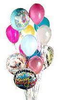 İstanbul çiçek yolla  görsel kaliteli 17 uçan balon buketi tanzimleri