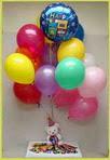 İstanbul ucuz çiçek gönder  25 adet uçan balon ve 1 kutu çikolata hediye