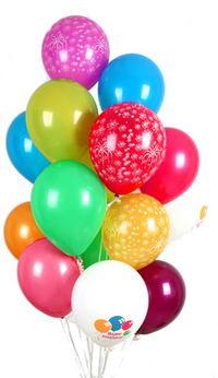 İstanbul kaliteli taze ve ucuz çiçekler  30 adet uçan balon buketi demeti renkli