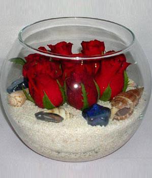 Cam fanus içeirsinde 9 adet kirmizi gül  İstanbul çiçek gönderme sitemiz güvenlidir