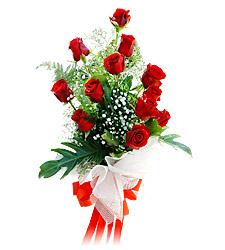 11 adet kirmizi güllerden görsel sölen buket  İstanbul çiçek gönderme sitemiz güvenlidir