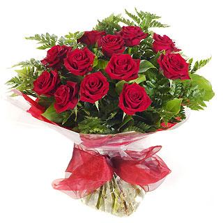 Ucuz Çiçek siparisi 11 kirmizi gül buketi  İstanbul çiçekçi mağazası