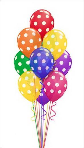 19 adet desenli renkli parti uçan balonlari