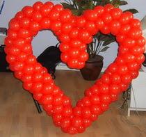 Kalp biçiminde balon sekli