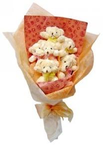12 adet ayiciktan buket  İstanbul yurtiçi ve yurtdışı çiçek siparişi