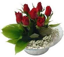 İstanbul online çiçekçi , çiçek siparişi  cam yada mika içerisinde 5 adet kirmizi gül