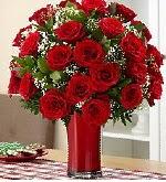 25 adet kırmızı gül tanzim çiçeği