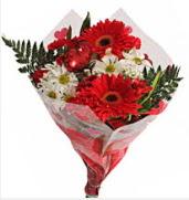 Mevsim çiçeklerinden görsel buket  İstanbul çiçek yolla , çiçek gönder , çiçekçi