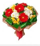 1 demet karışık buket  Hediye Çiçek hediye çiçek yolla