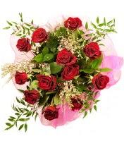 12 adet kırmızı gül buketi  İstanbul çiçek , çiçekçi , çiçekçilik