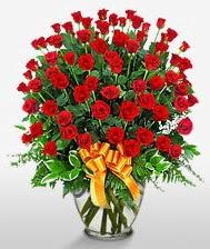 Görsel vazo içerisinde 101 adet gül  İstanbul çiçek gönderme