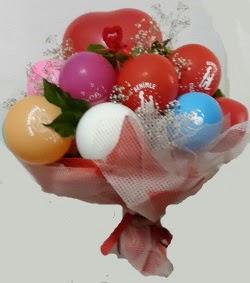 Benimle Evlenirmisin balon buketi  İstanbul çiçek satışı