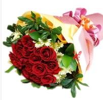 12 adet kırmızı gül ve papatyalar  İstanbul ucuz çiçek gönder