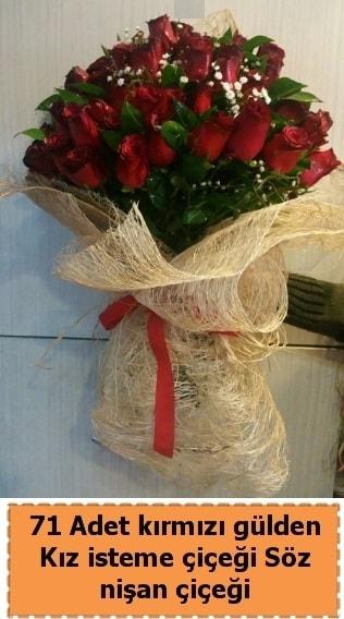 71 adet kırmızı gül söz nişan çiçeği  İstanbul çiçek online çiçek siparişi