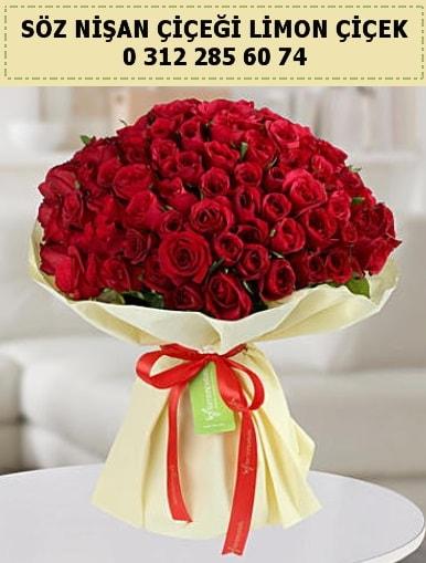51 adet kırmızı gül söz nişan buketi çiçeği  İstanbul yurtiçi ve yurtdışı çiçek siparişi