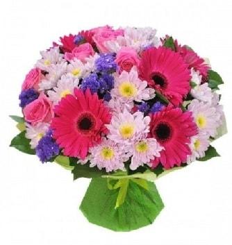 Karışık mevsim buketi mevsimsel buket  İstanbul çiçek online çiçek siparişi