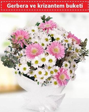 Papatya ve Gerbera Buketi  İstanbul çiçek servisi , çiçekçi adresleri
