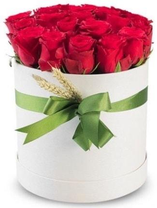 25 adet özel kutuda kırmızı gül  İstanbul çiçekçi telefonları  söz çiçekler